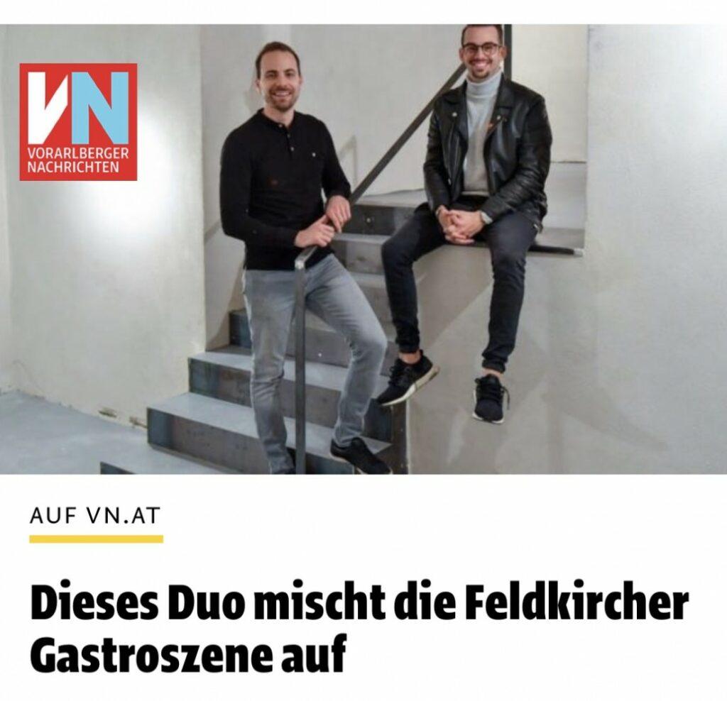 René Gmeiner und Kassian Xander auf Stiege